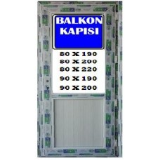 190 x 90 Hazır PVC Balkon Kapısı