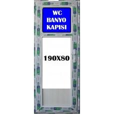 190 x 80 Hazır PVC Banyo ve WC Kapısı