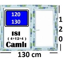 120 x 130 Hazır PVC Pencere