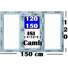 120 x 150 Hazır PVC Pencere
