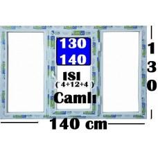 130 x 140 Hazır PVC Pencere