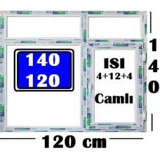 140 x 120 Hazır PVC Pencere